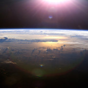 Pacific Ocean seen from space, door blueforce4116, via Flickr